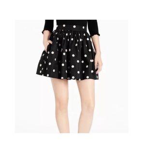 Kate Spade deco dot coreen black beige skirt